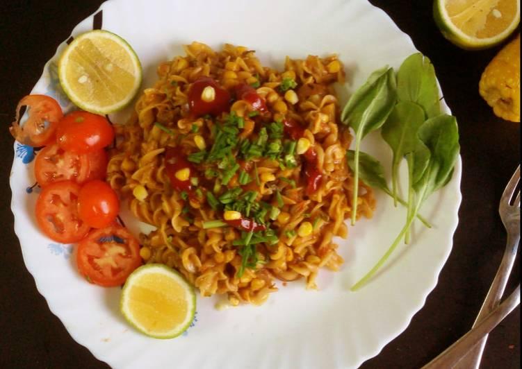 Recipe: Perfect Masala Corn pasta
