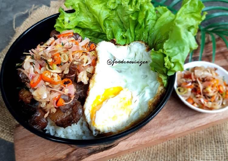 Beef Rice Bowl Sambal Matah