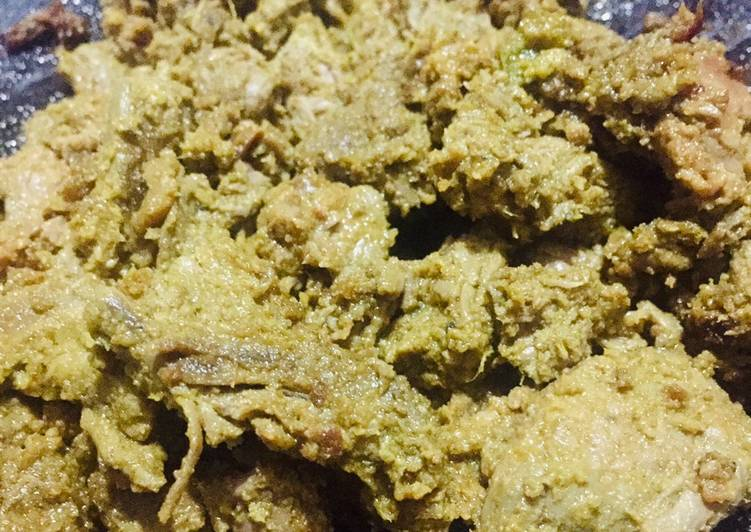 Simple Way to Make Homemade Boneless Mutton pieces coated with spices (pasinda)