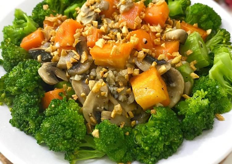 Capcay Jamur Wortel Brokoli