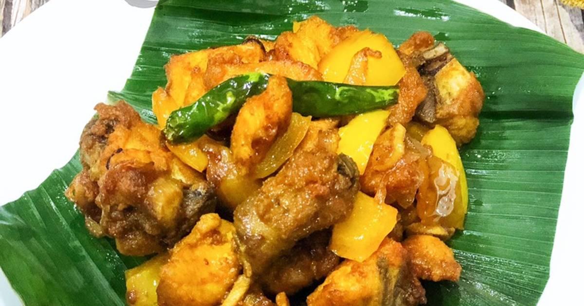 resepi ayam goreng kunyit  sedap  mudah oleh Resepi Ayam Kunyit Mat Rock Enak dan Mudah