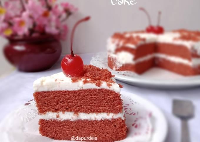 Steamed Red Velvet Cake