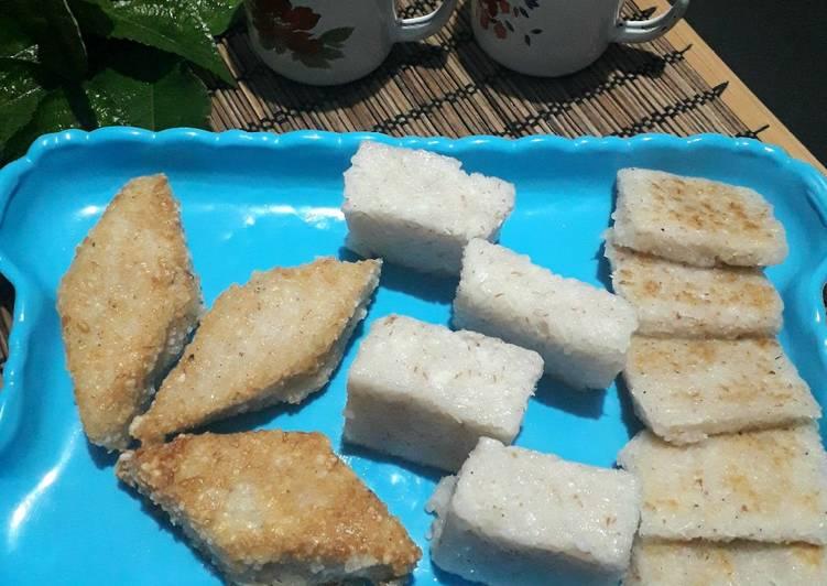 Jadah Ketan (panggang dan goreng)