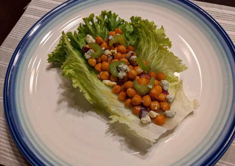 Easy Healthy Recipe: Appetizing Buffalo Chickpea Lettuce Wraps