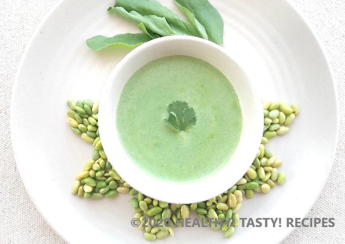 Green Soybean Creamy Soup Recipe By Healthy Tasty Recipes Cookpad