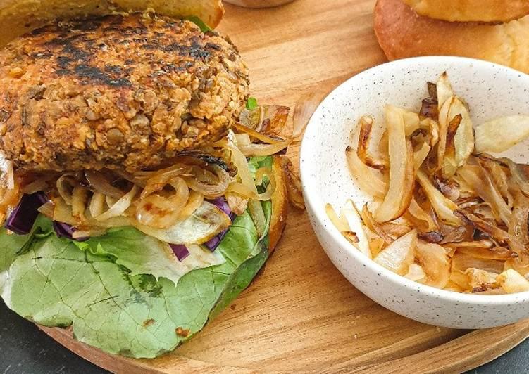 Burger vegan en 2 ingrédients