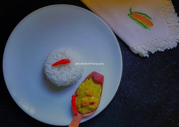 Steps to Make Favorite Kathal bichi Chingri Bharta / Jackfruit seed Shrimp mash