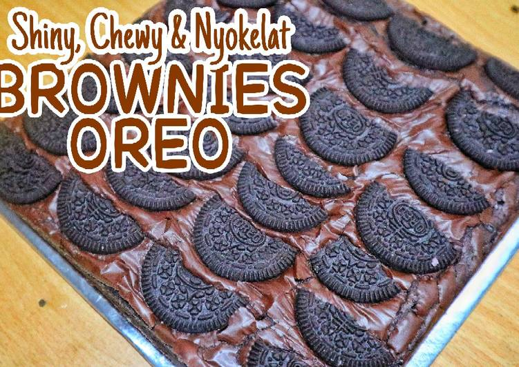 BROWNIES OVEN OREO CHEWY & SHINY