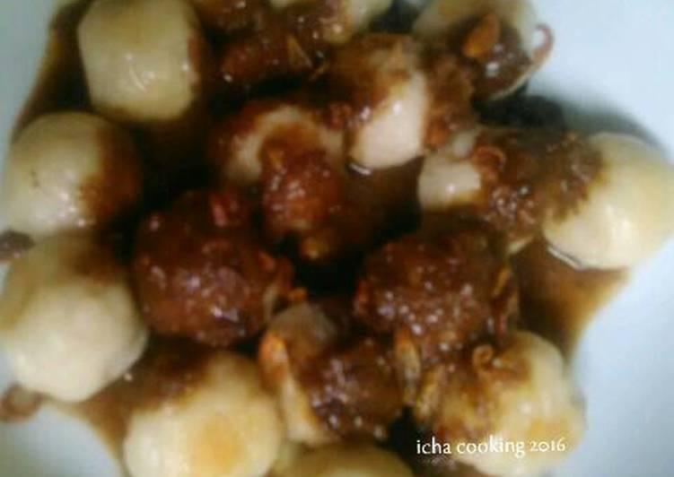 Resep pentol ikan kakap bumbu kacang yang Lezat Sekali