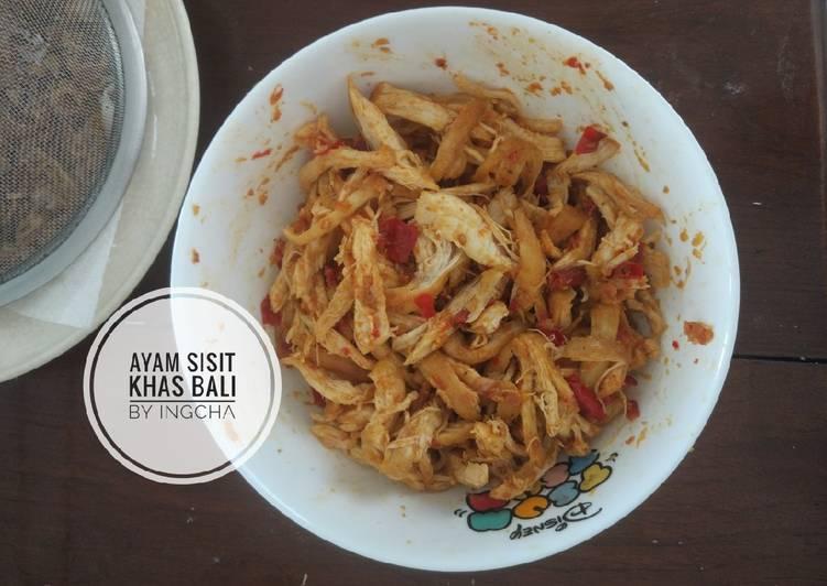 Ayam Sisit Khas Bali - Nasi Jenggo