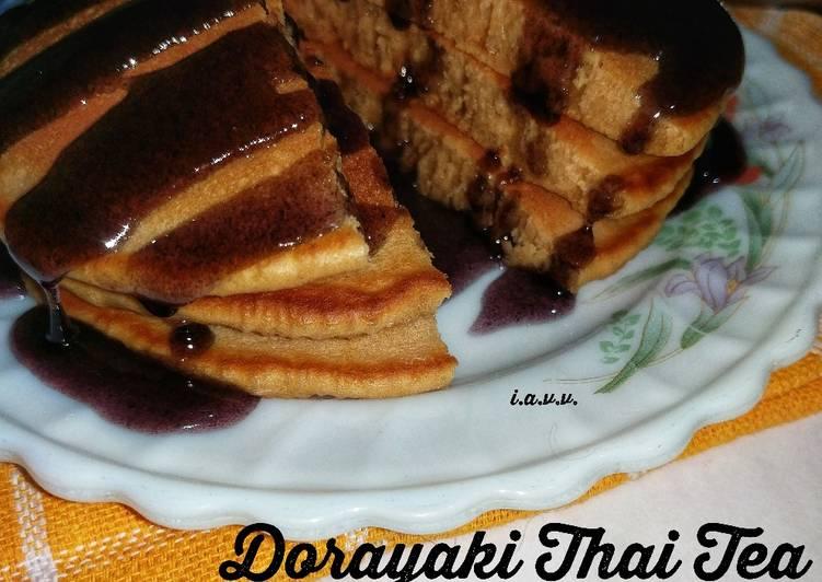 Soft Dorayaki Thai Tea