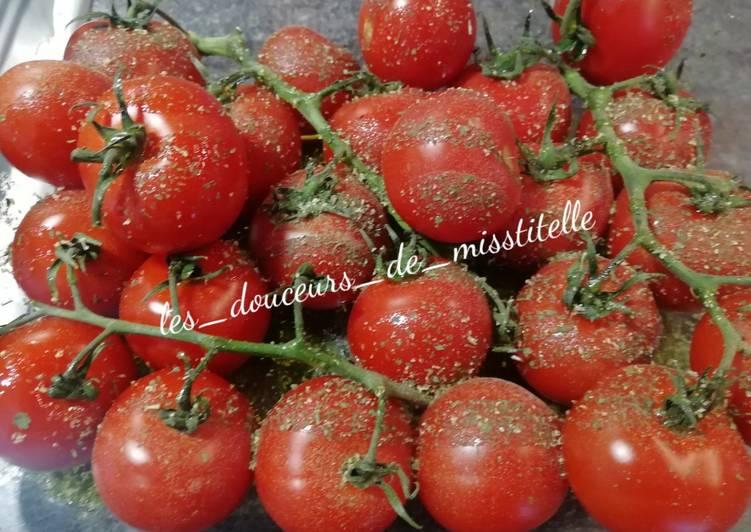 Tomates en grappe au four