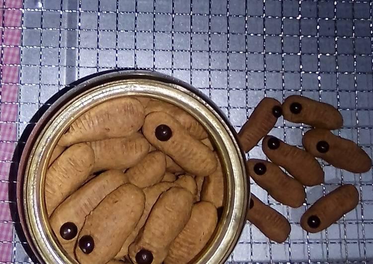 Caterpillar Chocolate Cookies Simple No Mixer
