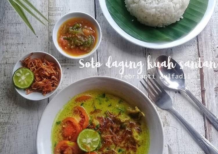 Soto daging kuah santan (Soto bogor)