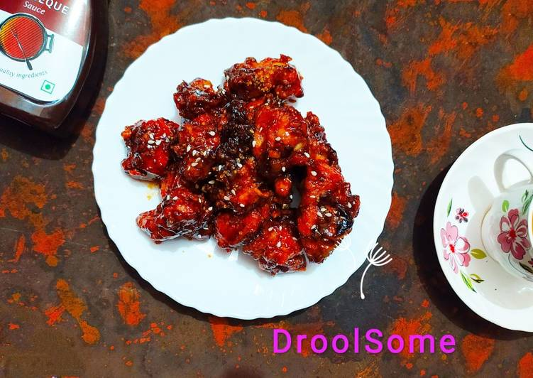 Recipe of Ultimate Saucy fried barbecue chicken
