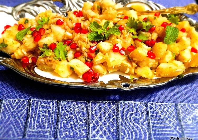 Grandmother's Dinner Easy Favorite Navratri Vrat Sweet Potato Chat or Shakarkandi Chat