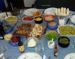 Tacos/ burritos /fajitas de res, cerdo y pollo