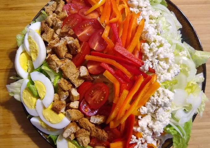 Vegetarian Chicken Cobb Salad