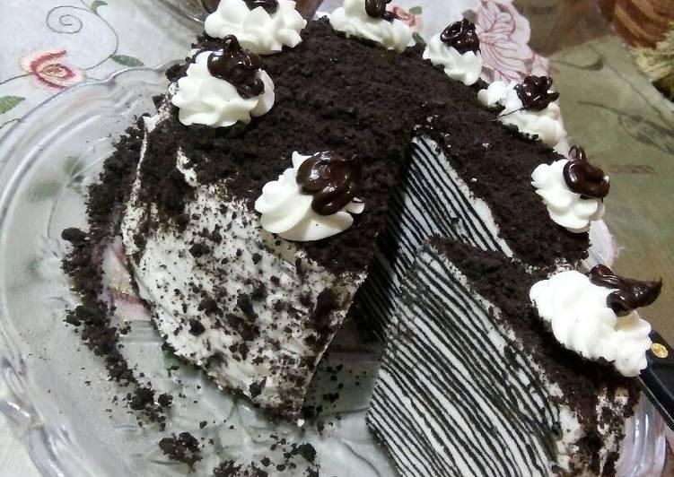 Millecrepes dark coklat