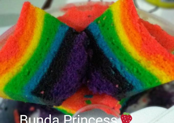 Bolu kukus rainbow