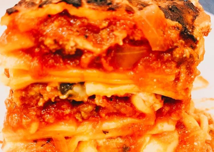 Recipe: Yummy Meat sauce Lasagna