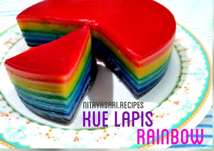Kue Lapis Rainbow