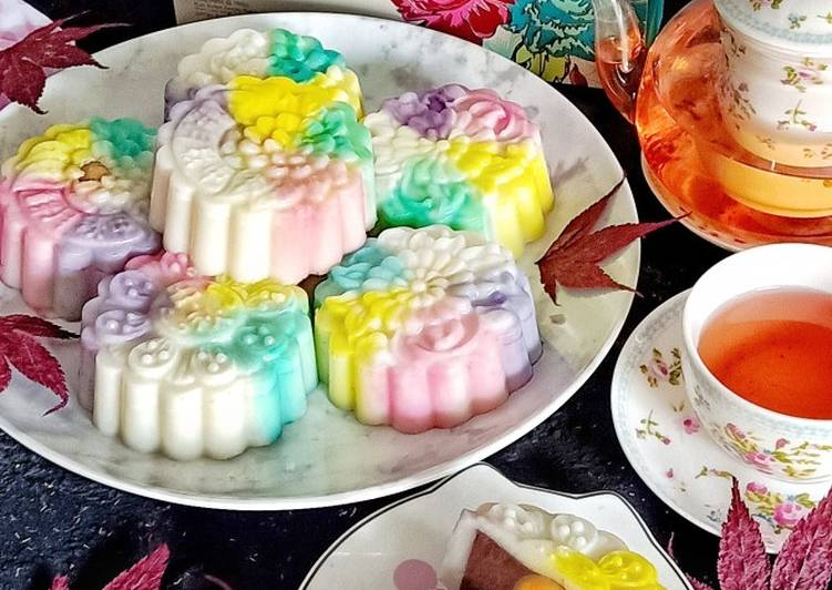 Rainbow Snowskin Mooncake Pudding🥮