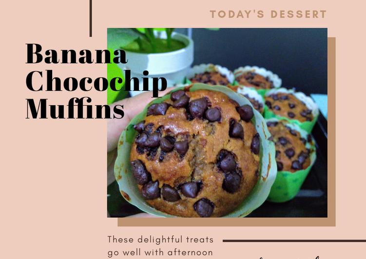 Resep 29. Banana Chocochip Muffins Terbaik