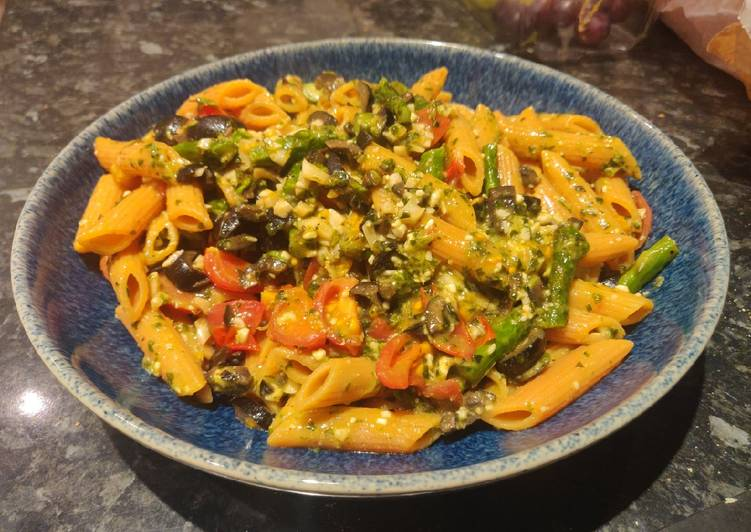 How to Make Speedy Lentil Penne with Asparagus