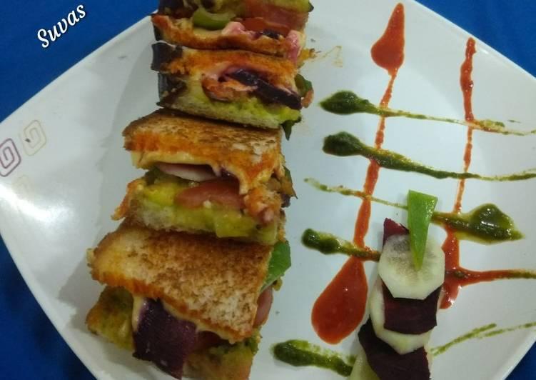 Recipe of Homemade Tava Toasted Veg Sandwiches