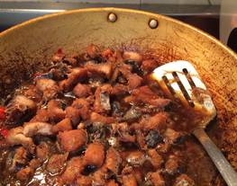 Ikan asin telang masak asam(iwak karing telang masak asam)