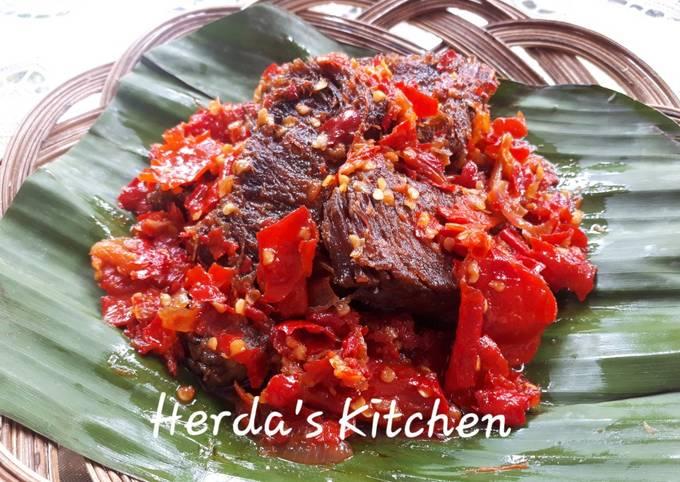 Resep Dendeng Balado Basah Khas Minang Oleh Herda S Kitchen Cookpad