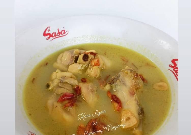Resep Kare Ayam by Cemplong Moglong yang Lezat