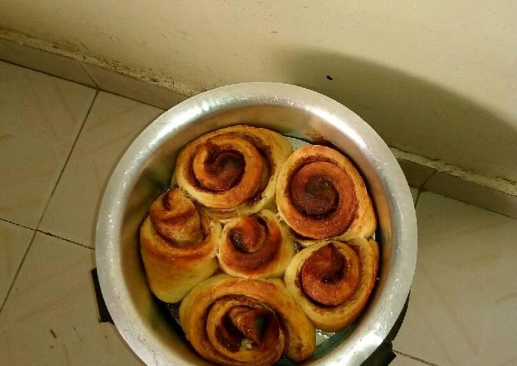 Cinnamon rolls no oven