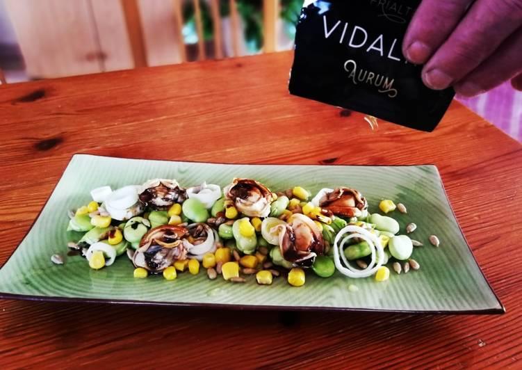 Ensalada primaveral mar y tierra con aceite Vidalim Omega 3
