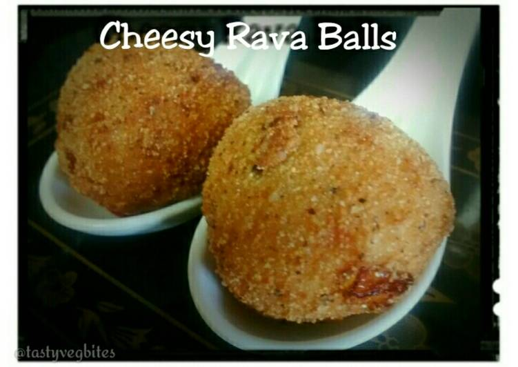 Steps to Prepare Homemade Cheesy Rava Balls Recipe(No potato/bread)