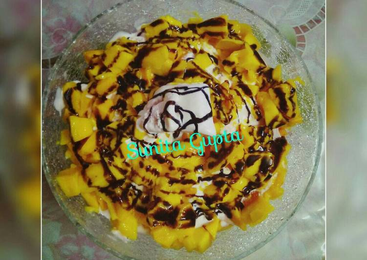 #Ramadan#Ice-cream mango pudding