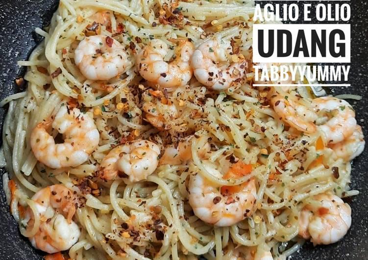 Spaghetti Aglio e Olio Udang