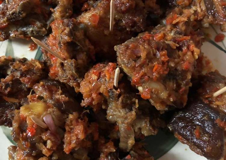 Recipe of Speedy Peppered goat meat