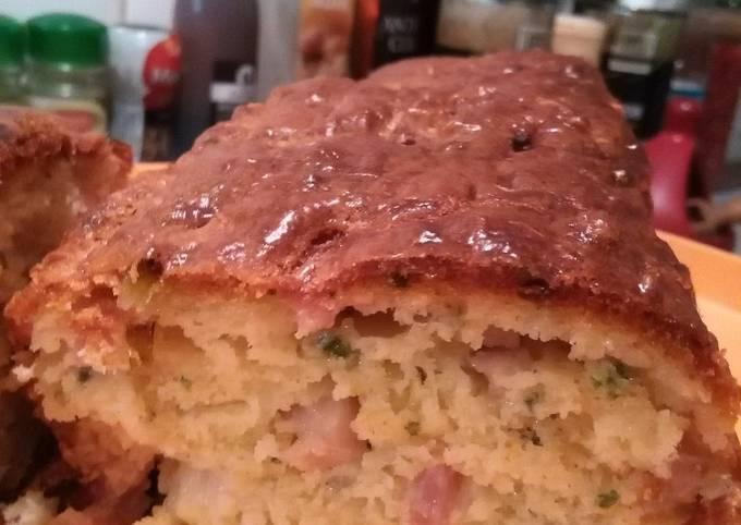 Cake lardons gruyère