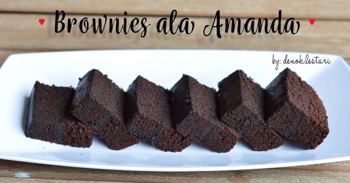 Resep Brownies Kukus Ala Amanda Oleh Denok Lestari Cookpad