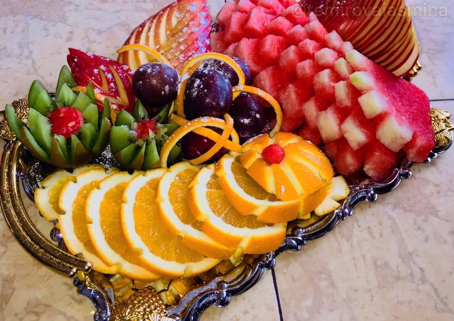 музыку простая фруктовая нарезка фото основном листья лаватер