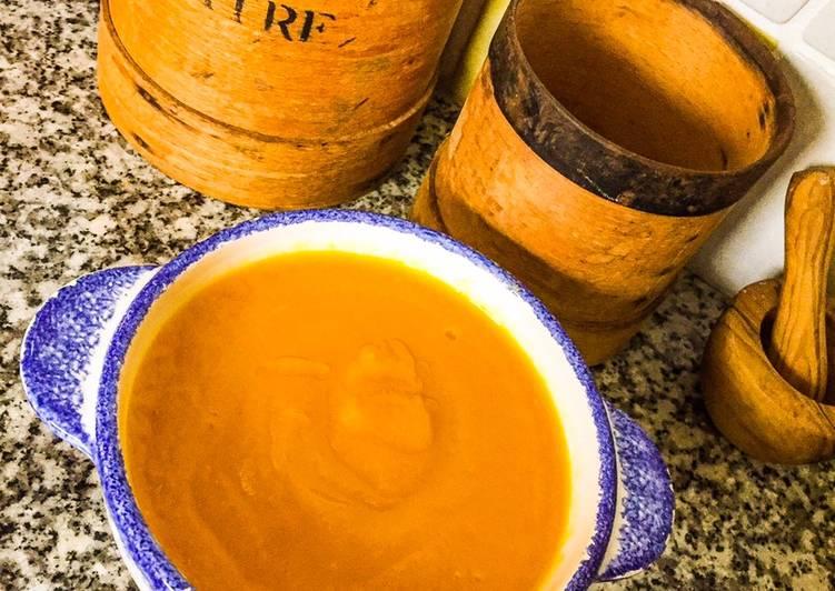 Velouté de potimarron au lait de coco