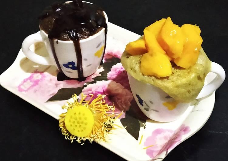 Cocoa chocolate cup cake & Mango cup cake