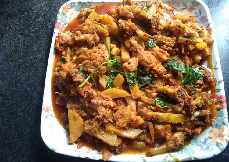 25 Minute Recipe of Fall Bombay duck curry