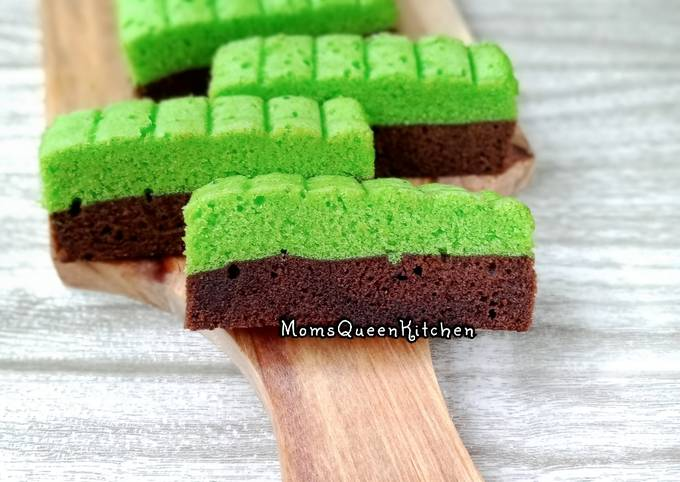Brownies kukus pandan ala amanda