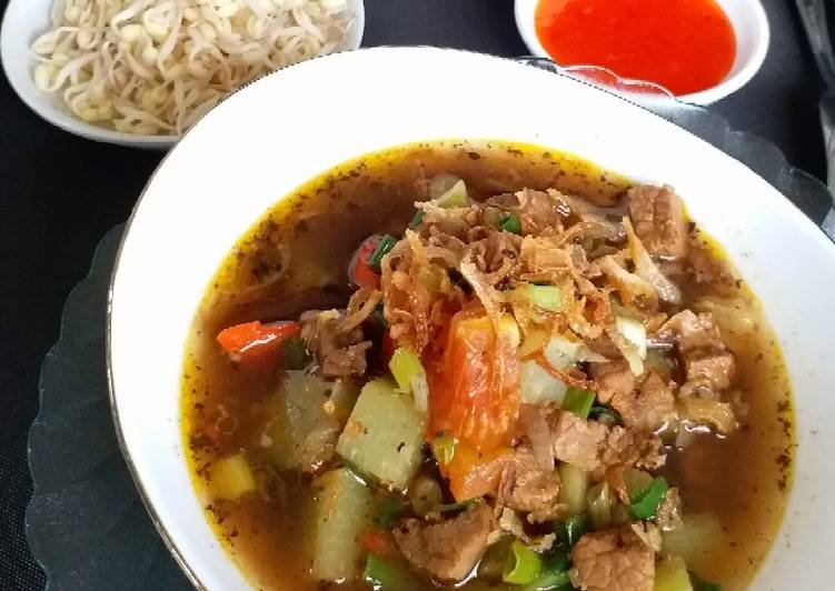 """""""Rawon Labu Siam-Daging"""" (tanpa lemak)"""