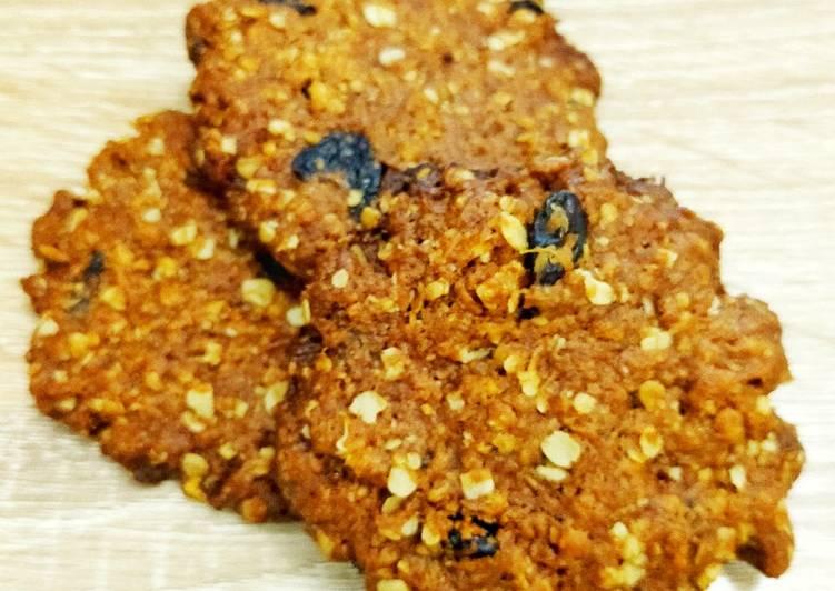 Crispy Chewy Coconut Oatmeal cookies (Kukis kelapa oatmeal)