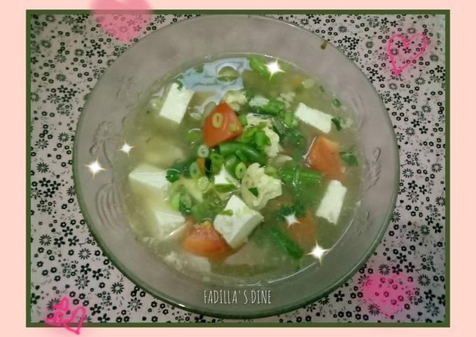 25. Soup Tahu (Versi 1 Rendah Kalori)