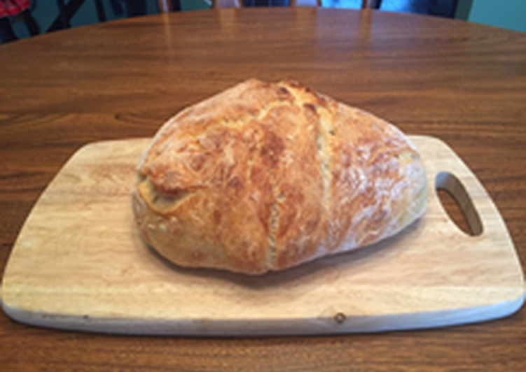 No-Knead Crusty Bread